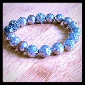 Stella & Dot silver/pewter bracelet